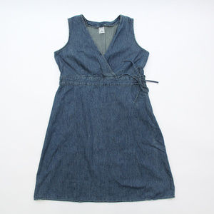 Old Navy Maternity Dress L Denim Empire Waist